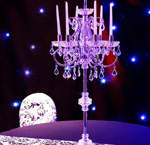 Candelabra Centrepiece ©2014 Purple Sky Productions.