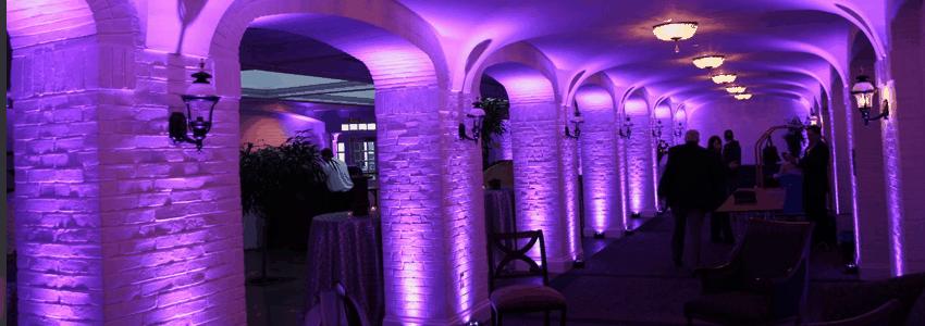 Pillar uplighting