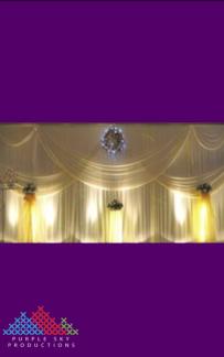 8mW x 4mH Wedding Backdrop
