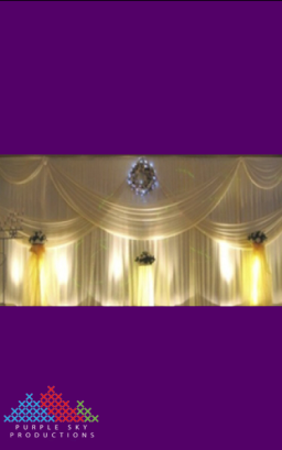 8mW x 4mH Wedding Backdrop
