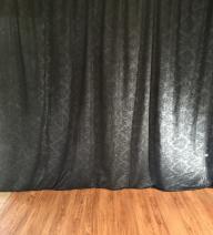 Black Damask Curtain