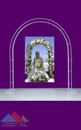 Bridal Arch – White 172cmW x 230cmH